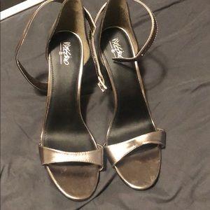 Stiletto pewter heels